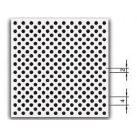Потолочная металлическая кассета ОРКАЛ ПЛЕЙН микро перфорация 1,5 мм белая / ORKAL PLAIN LAY-IN Rd 1522 White MicroLook 8 600x600x8