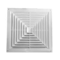 Пластиковая потолочная вентиляционная решётка 600х600 диффузорного типа