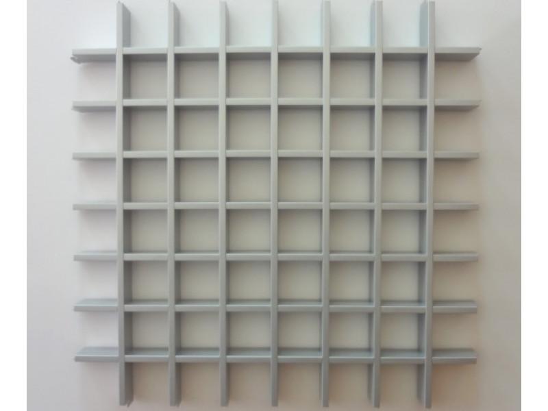 Грильято Эконом 75х75 выс. 40 шир. 10 матовый металлик