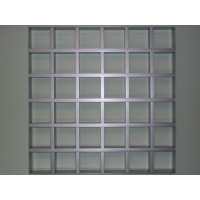 Грильято GL15 100х100 выс. 37 шир. 15 металлик
