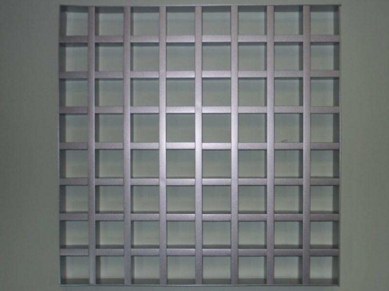 Грильято GL15 75х75 выс. 37 шир. 15 металлик